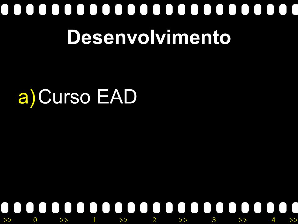 Desenvolvimento Curso EAD