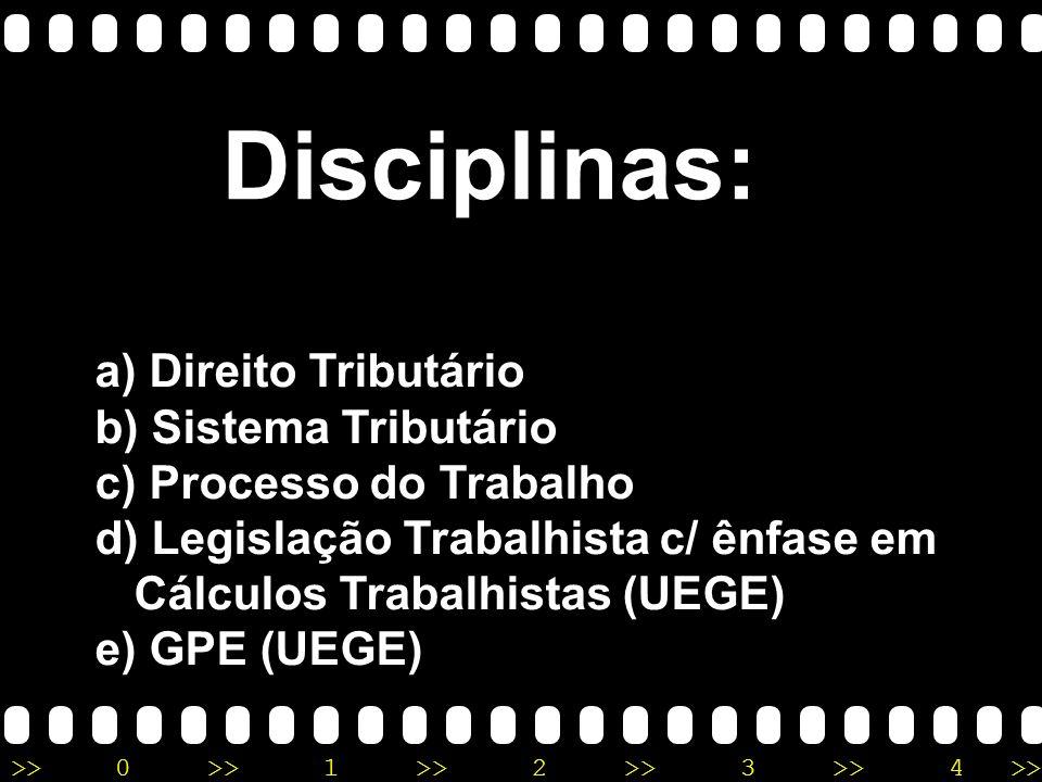 Disciplinas: Direito Tributário Sistema Tributário