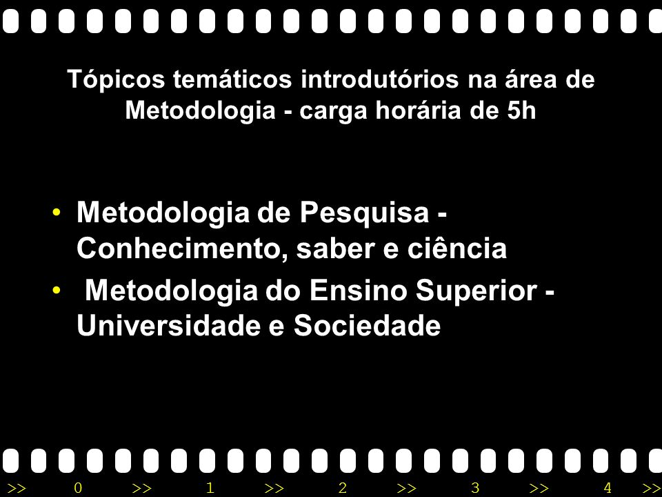 Metodologia de Pesquisa - Conhecimento, saber e ciência