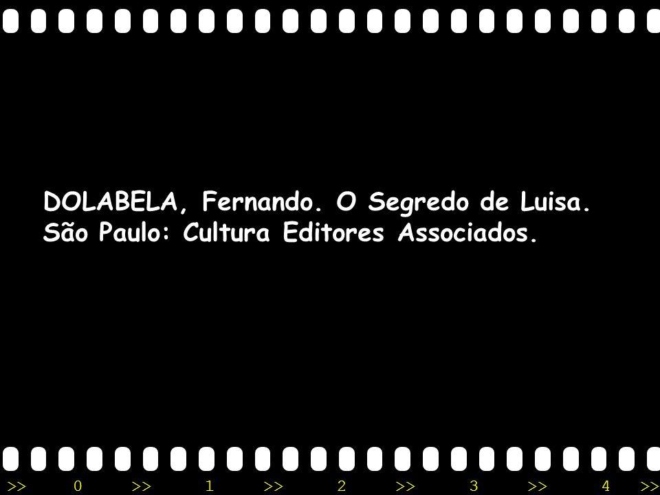 DOLABELA, Fernando. O Segredo de Luisa.