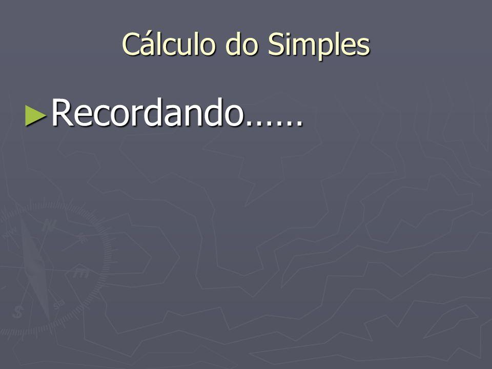Cálculo do Simples Recordando……
