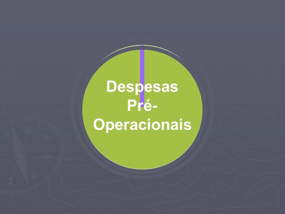 Despesas Pré- Operacionais