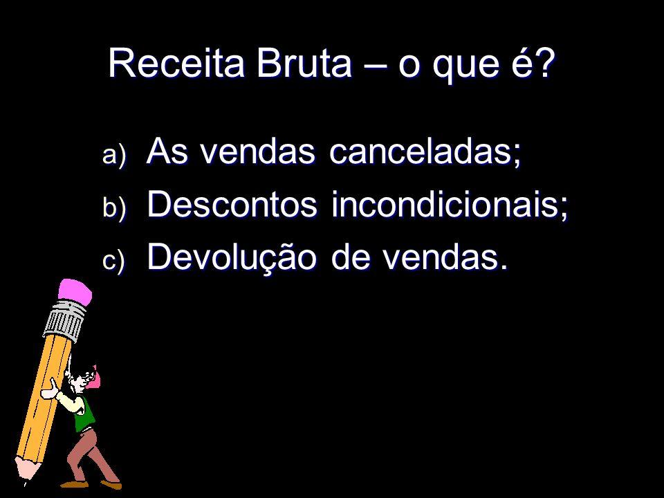 Receita Bruta – o que é As vendas canceladas;