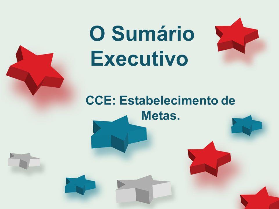 CCE: Estabelecimento de Metas.