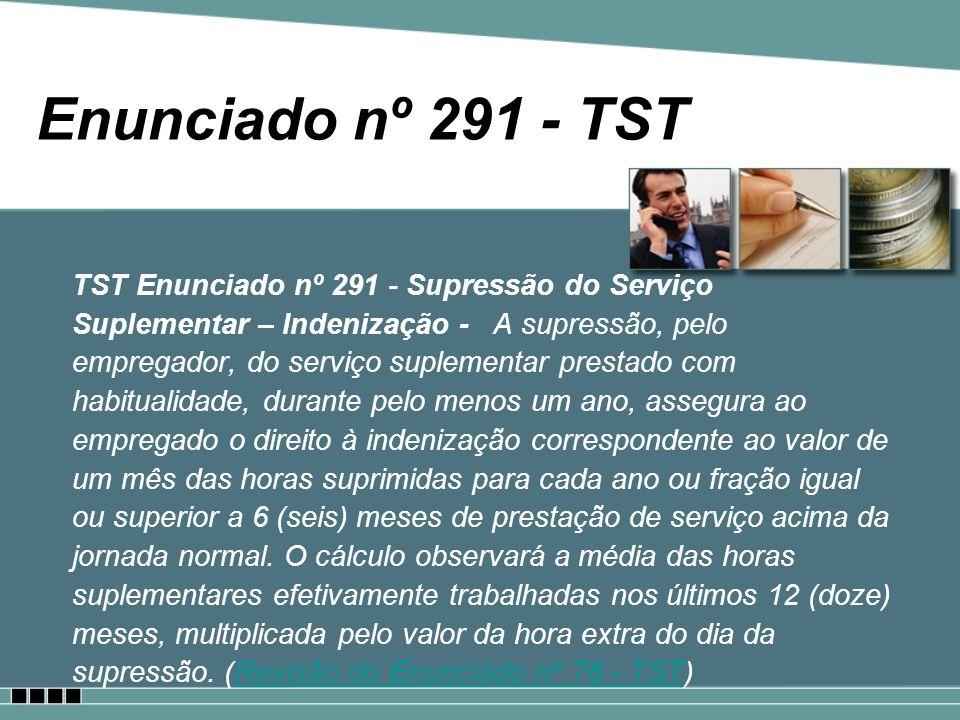 Enunciado nº 291 - TST