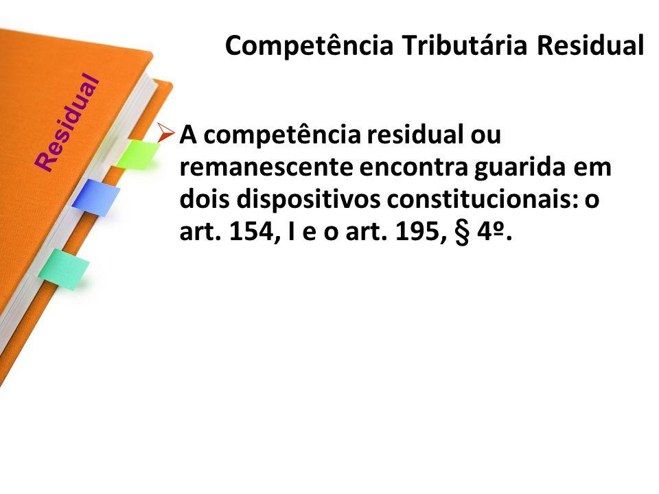 Competência Tributária Residual