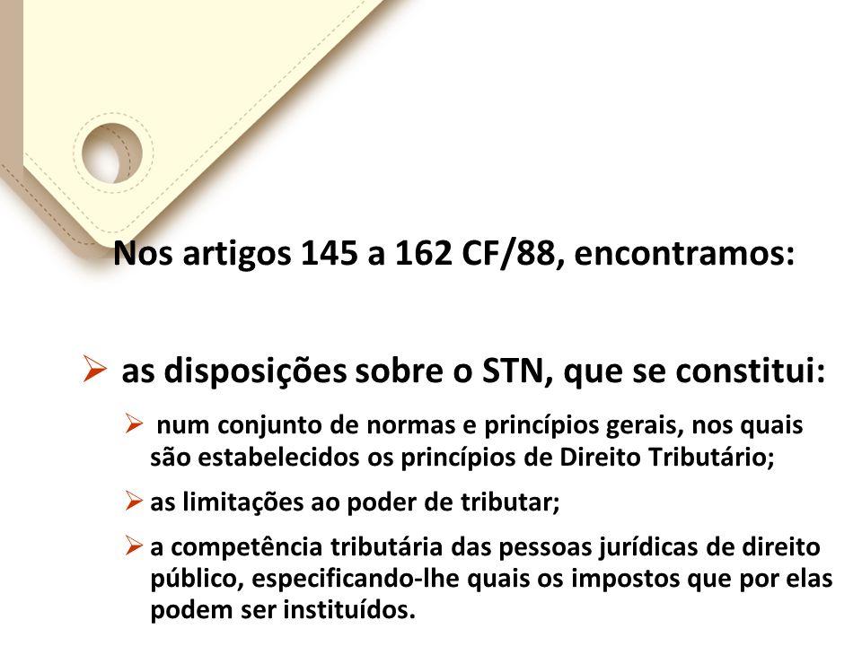Nos artigos 145 a 162 CF/88, encontramos: