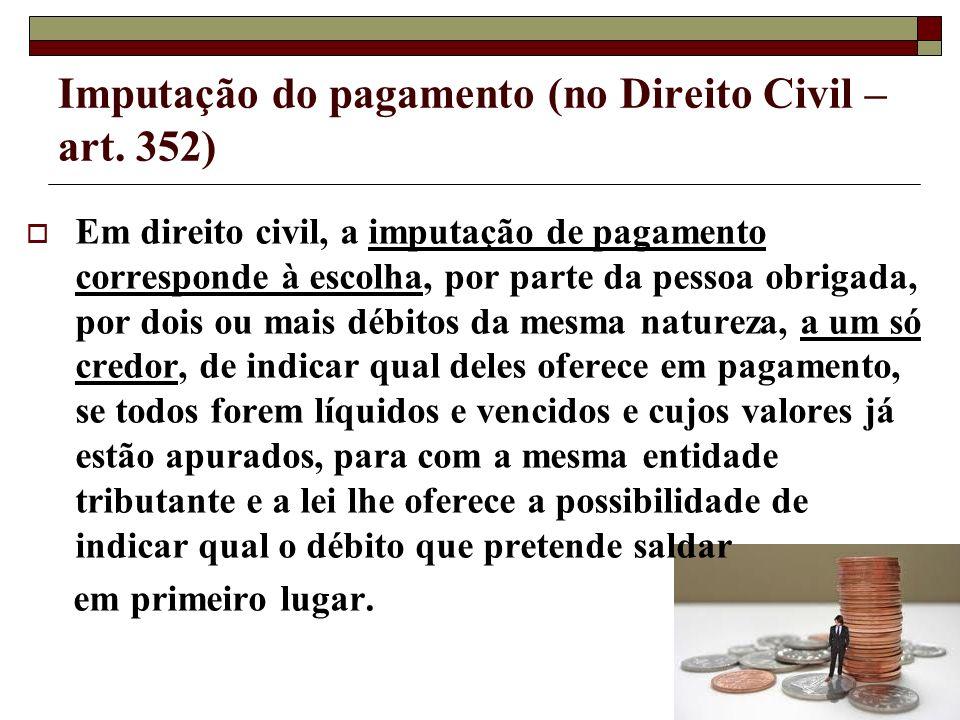 Imputação do pagamento (no Direito Civil – art. 352)