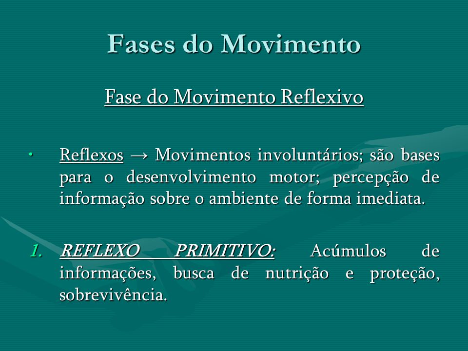 Fase do Movimento Reflexivo