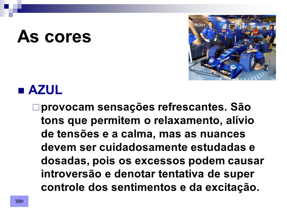 As cores AZUL.