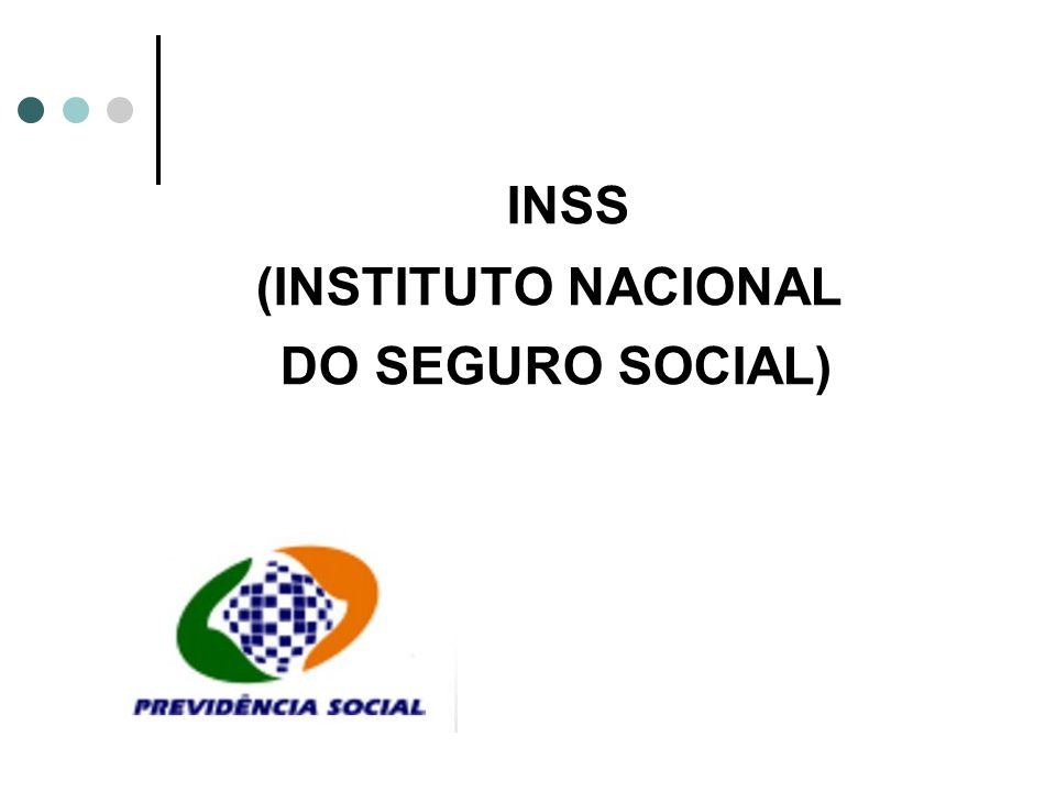 INSS (INSTITUTO NACIONAL DO SEGURO SOCIAL)
