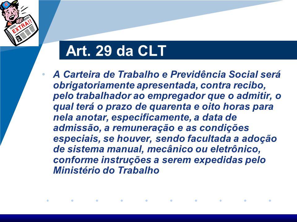 Art. 29 da CLT