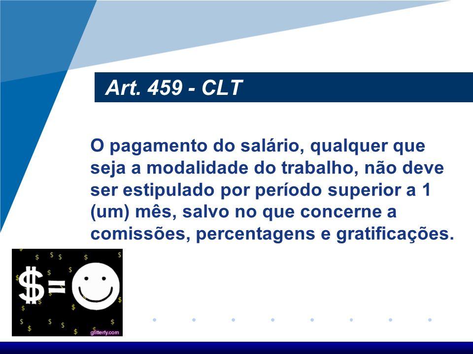 Art. 459 - CLT