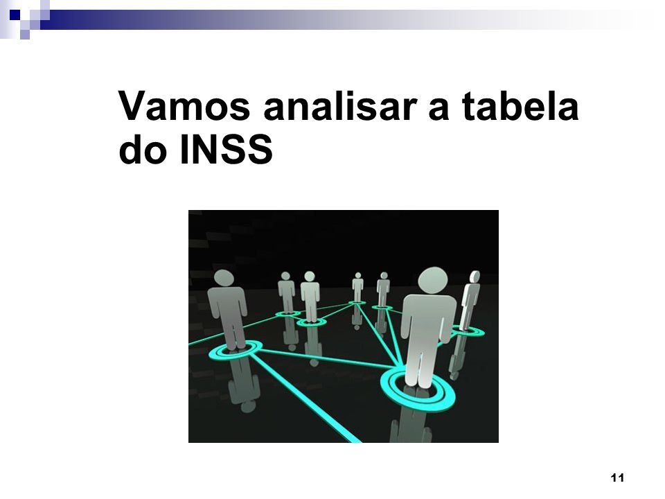 Vamos analisar a tabela do INSS