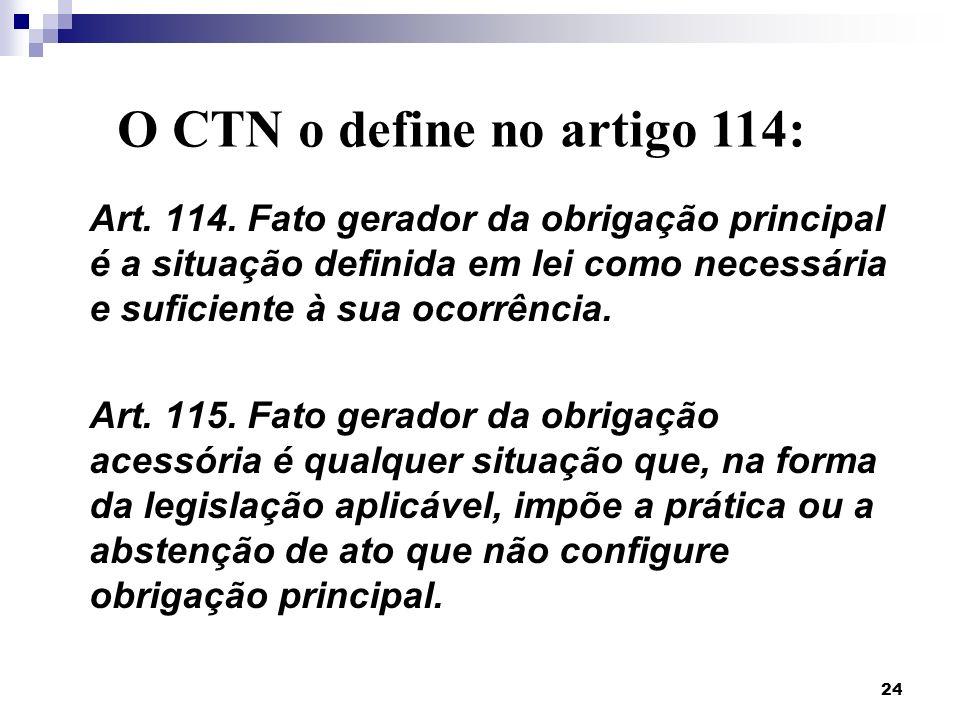 O CTN o define no artigo 114: