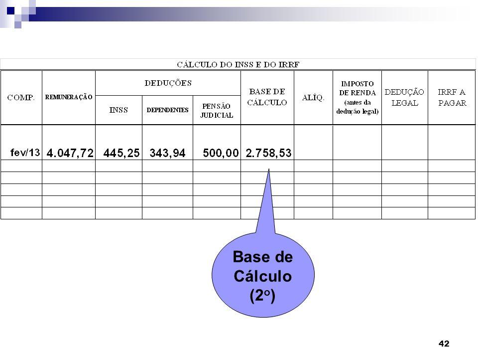 Base de Cálculo (2o)