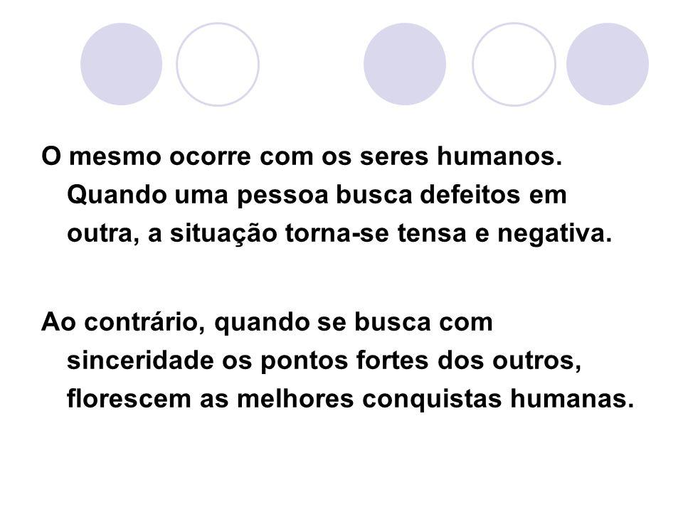 O mesmo ocorre com os seres humanos
