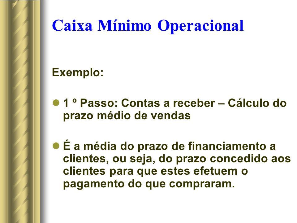 Caixa Mínimo Operacional