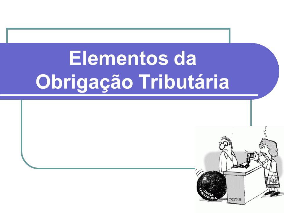 Elementos da Obrigação Tributária