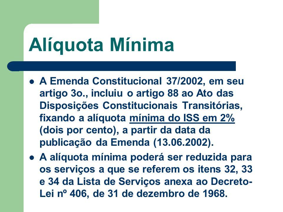 Alíquota Mínima