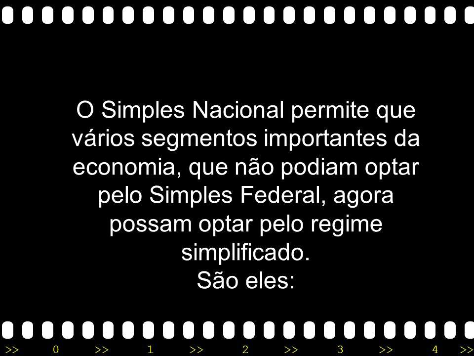 O Simples Nacional permite que vários segmentos importantes da economia, que não podiam optar pelo Simples Federal, agora possam optar pelo regime simplificado.