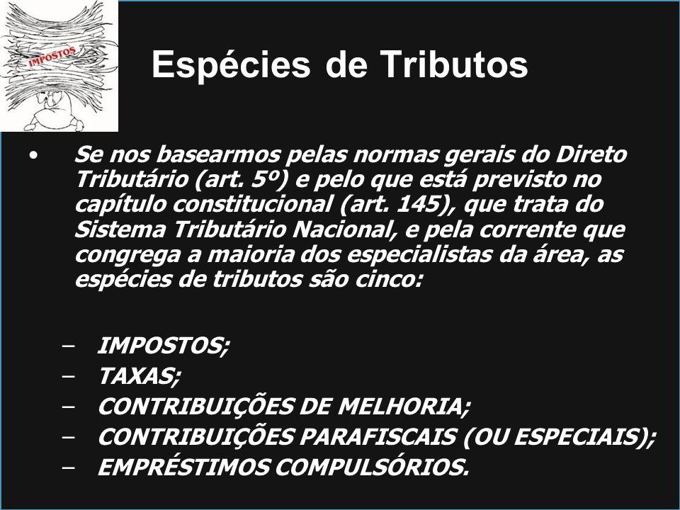Espécies de Tributos