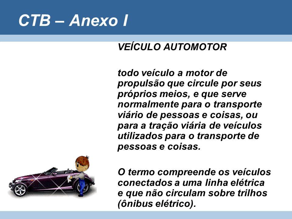 CTB – Anexo I VEÍCULO AUTOMOTOR