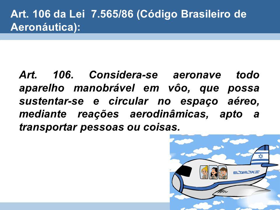 Art. 106 da Lei 7.565/86 (Código Brasileiro de Aeronáutica):