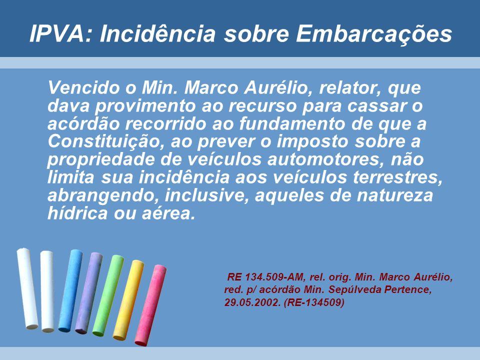 IPVA: Incidência sobre Embarcações