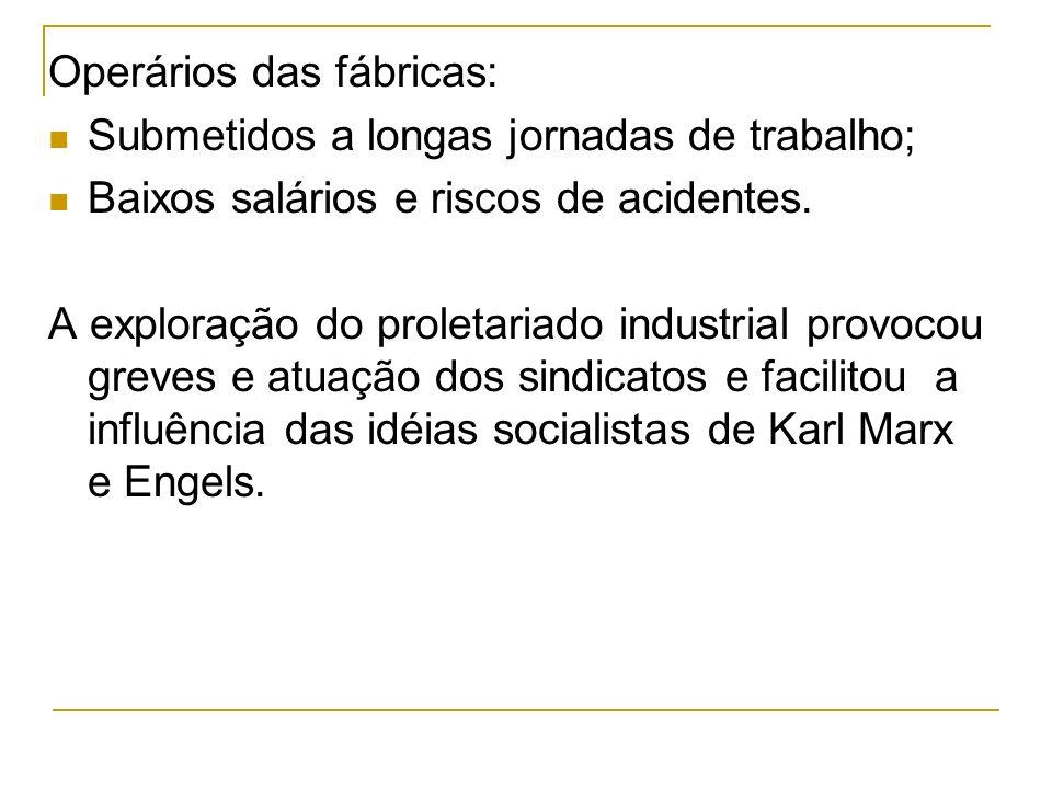 Operários das fábricas: