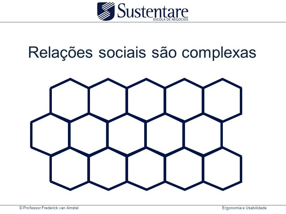 Relações sociais são complexas