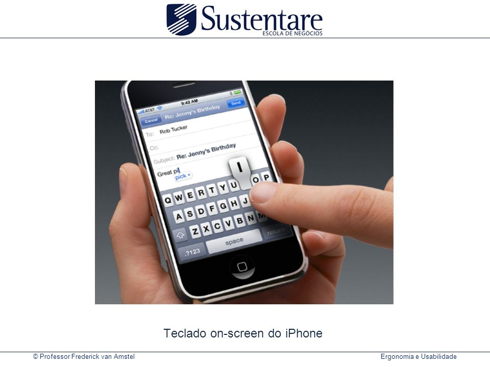 Teclado on-screen do iPhone