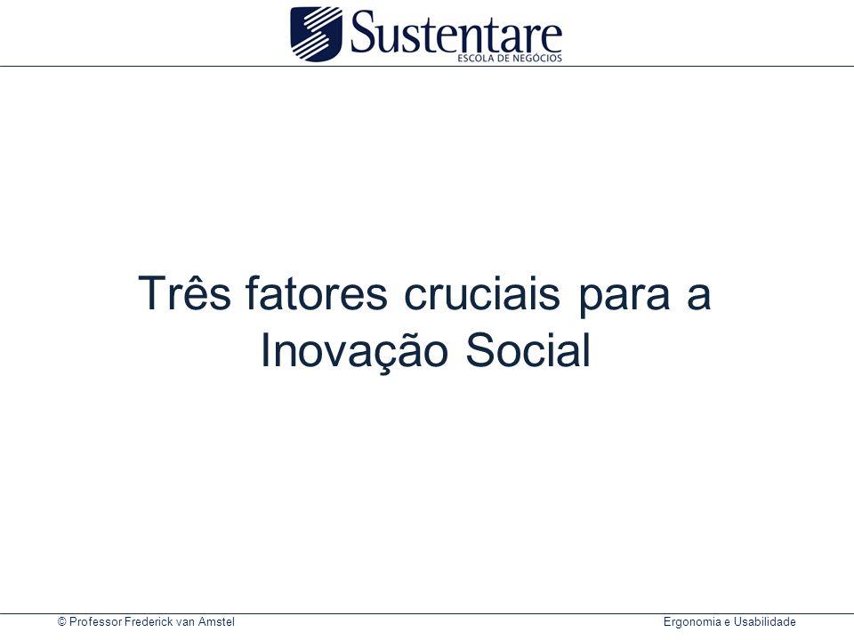 Três fatores cruciais para a Inovação Social