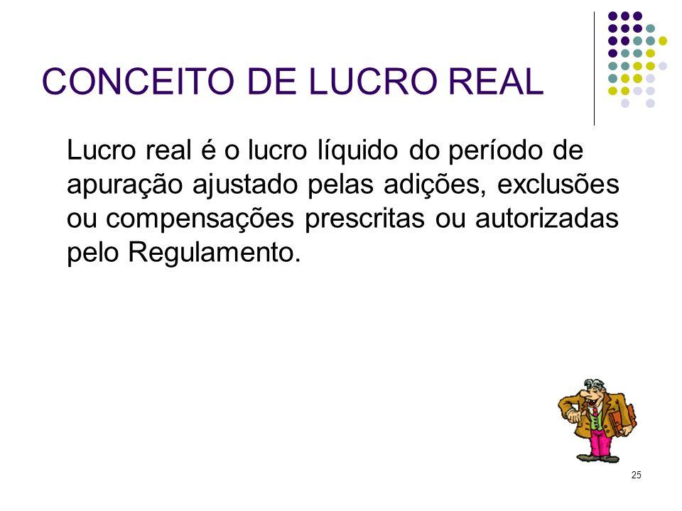 CONCEITO DE LUCRO REAL