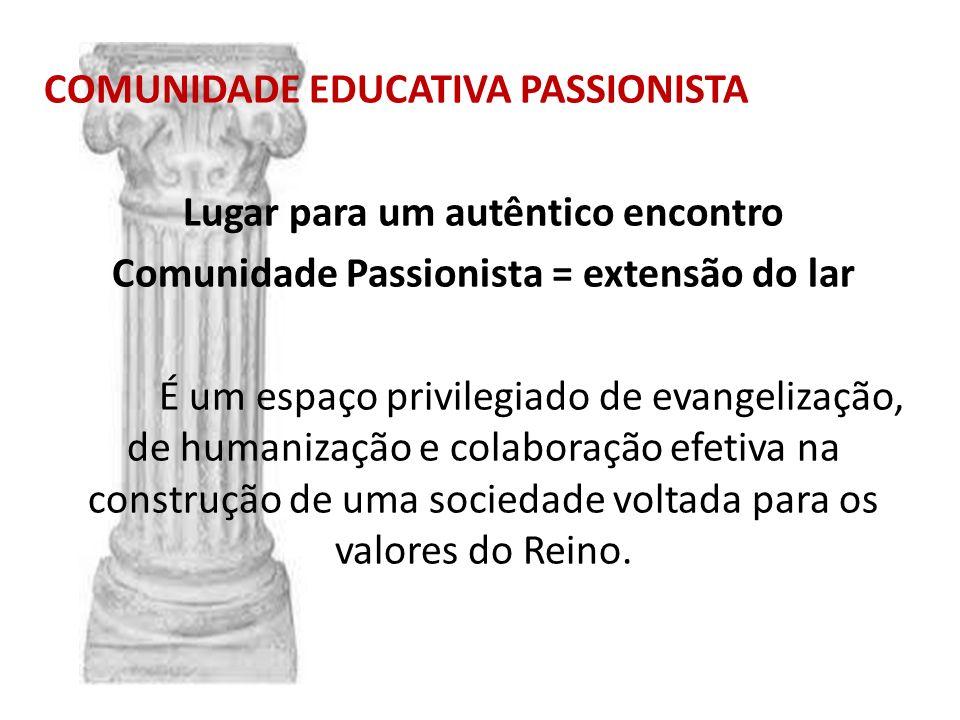 COMUNIDADE EDUCATIVA PASSIONISTA Lugar para um autêntico encontro
