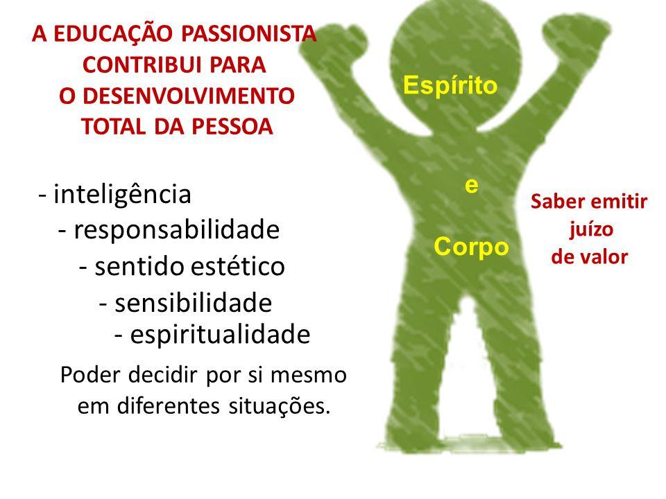 A EDUCAÇÃO PASSIONISTA CONTRIBUI PARA