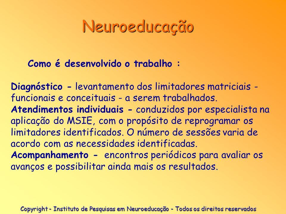 Neuroeducação Como é desenvolvido o trabalho :