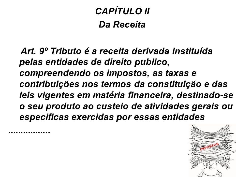 CAPÍTULO II Da Receita.