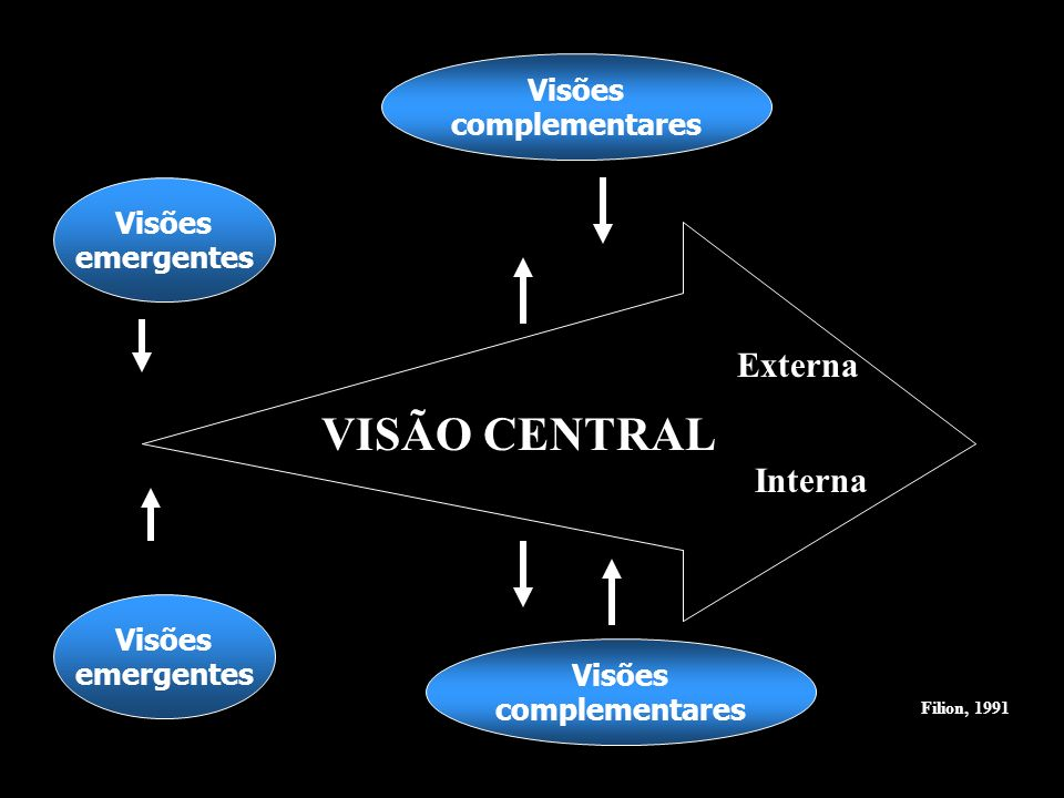 VISÃO CENTRAL Externa Interna Visões complementares Visões emergentes