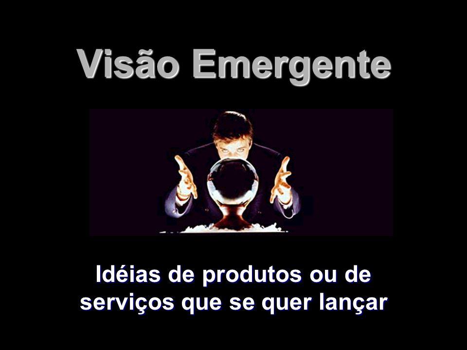 Idéias de produtos ou de serviços que se quer lançar