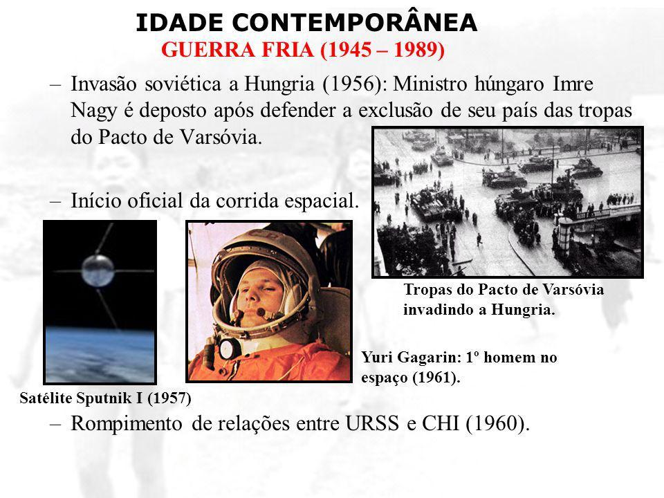 Início oficial da corrida espacial.