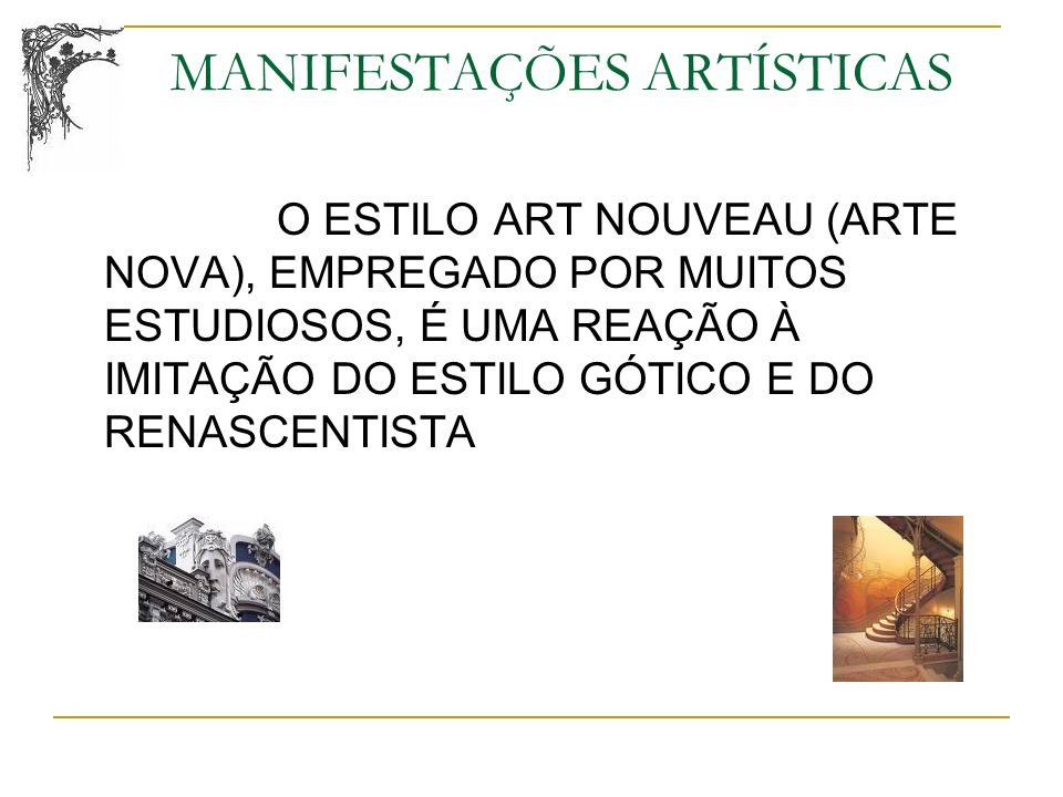 MANIFESTAÇÕES ARTÍSTICAS