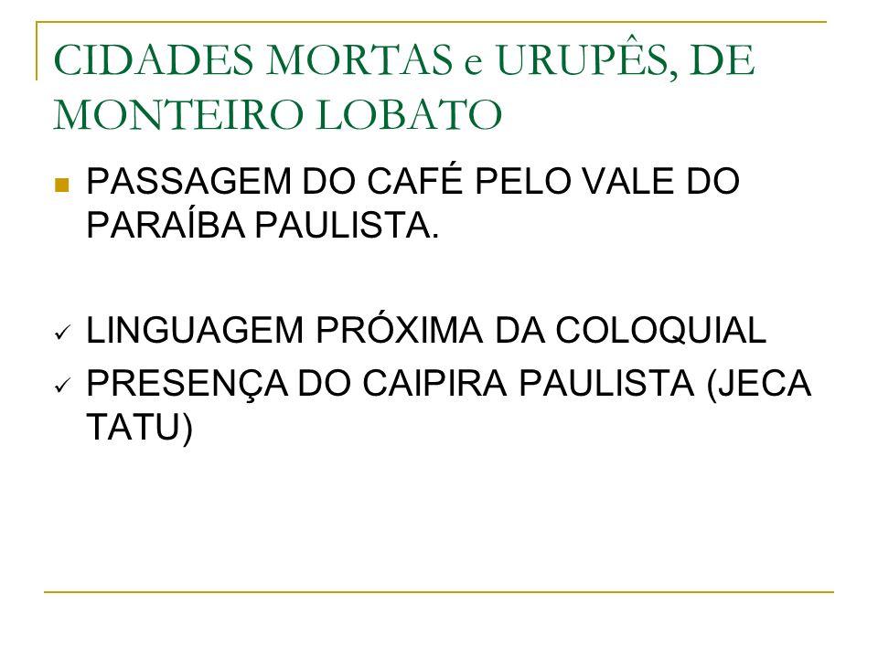 CIDADES MORTAS e URUPÊS, DE MONTEIRO LOBATO