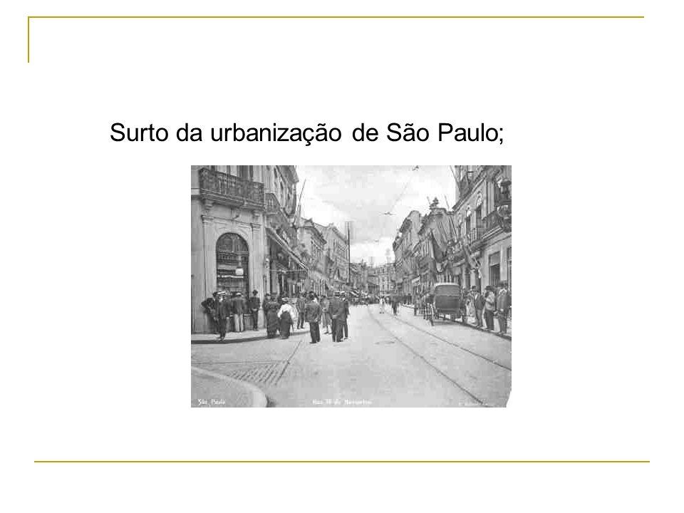 Surto da urbanização de São Paulo;