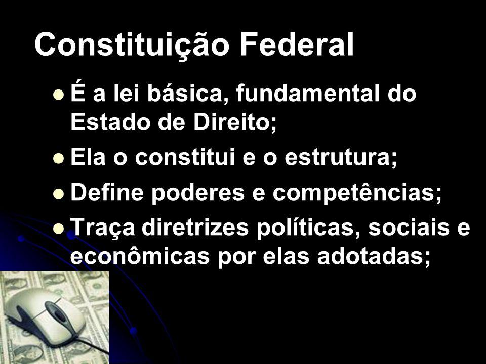 Constituição Federal É a lei básica, fundamental do Estado de Direito;