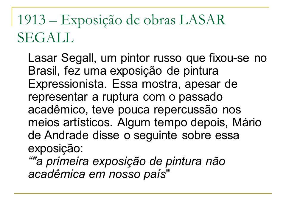 1913 – Exposição de obras LASAR SEGALL