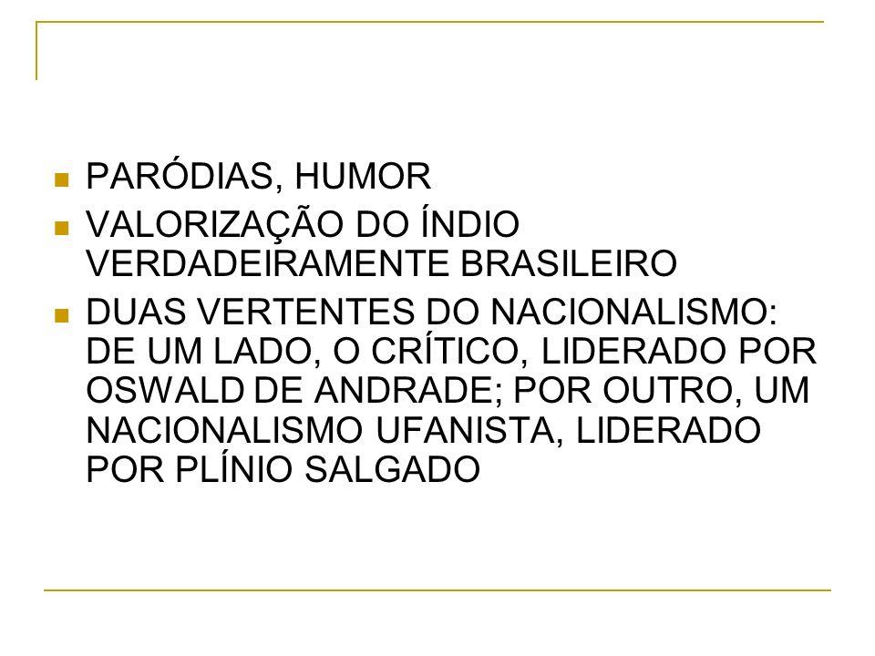 PARÓDIAS, HUMOR VALORIZAÇÃO DO ÍNDIO VERDADEIRAMENTE BRASILEIRO.