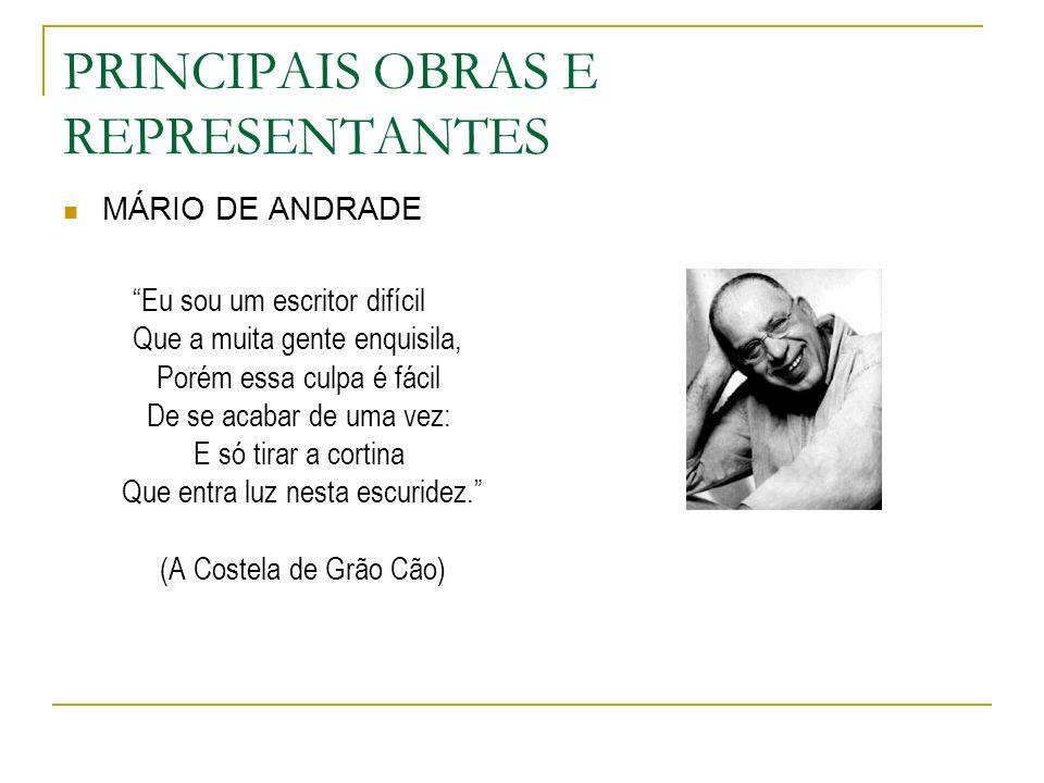 PRINCIPAIS OBRAS E REPRESENTANTES