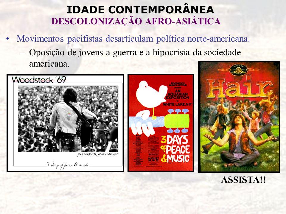 Movimentos pacifistas desarticulam política norte-americana.