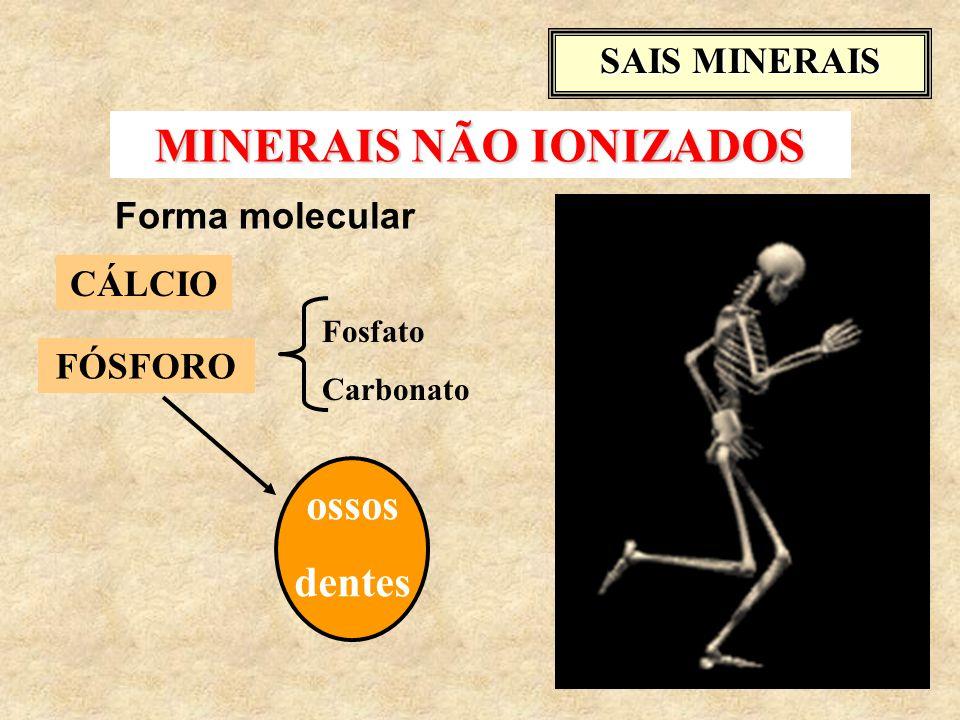 MINERAIS NÃO IONIZADOS